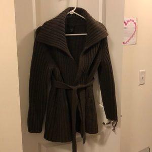Brown sweater cardigan